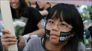 Rally against Taiwan's judicial system in Taipei (Sept 2010)