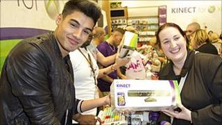 Gamers at an Xbox Kinect 'Midnight Madness' event in the UK
