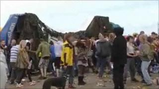 The illegal rave at dale in Pembrokeshire