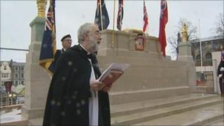 Dedication of the restored war memorial in Norwich