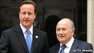 David Cameron and Sepp Blatter