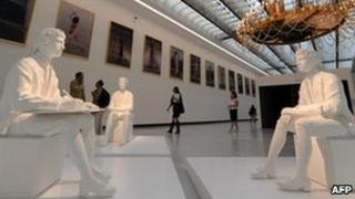 A hall inside Rome's Maxxi museum of contemporary art (archive image)