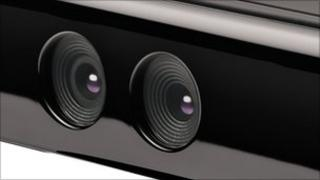 Close-up of Kinect sensors, Microsoft