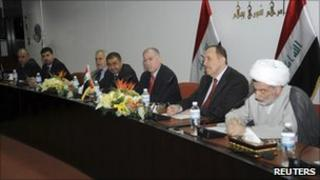 Senior political leaders attend a meeting in Baghdad, 13 November, 2010