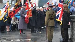 Guernsey Remembrance Day ceremony 2010
