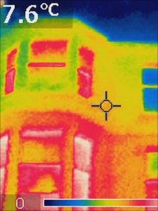 Thermal image of a property in Edinburgh