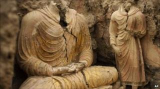 Numerous priceless Buddhist relics have been unearthed