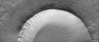 Utopia Planitia crater on Mars