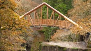 Bracklin Falls bridge