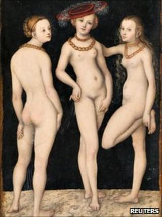 The Three Graces by Lucas Cranach the Elder