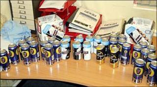 Seized alcohol