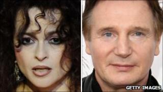 Helena Bonham Carter and Liam Neeson