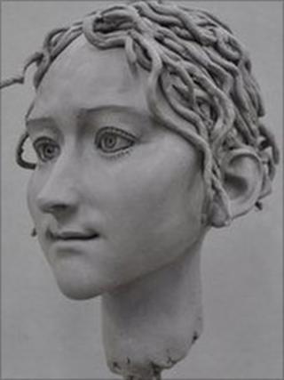 Life-sized model of Godiva's head