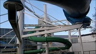 Flumes at Guernsey's Beau Sejour Leisure Centre