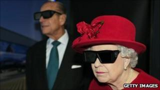 The Queen and Duke of Edinburgh at the university's Advanced Manufacturing Research Centre