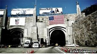 A picture of the Lincoln Tunnel taken from Elevationphoto's Flickr stream under a creative commons license