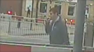 Man on Carlton level crossing