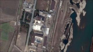 A DigitalGlobe Satellite image shows construction at the North Korea's Yongbyon nuclear complex in North Korea on 4 November 2010