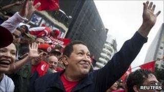 Venezuelan President Hugo Chavez celebrates students' day in Caracas. Photo: 21 November 2010
