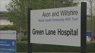 Green Lane Hospital sign