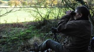 Paul Tillsley monitoring a hunt