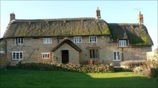 A thatched cottage in Somerset