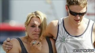 Grieving family members