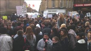 Students at Eldon Square