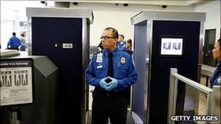 Security at Los Angeles International Airport. 22 Nov 2010