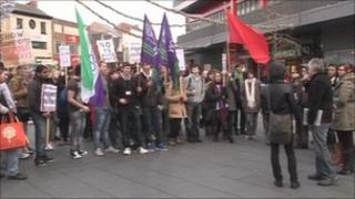 Student protest in Leicester