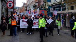 Student protest in Lincoln