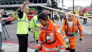 Paramedics at Edgware Road