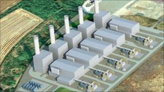 Model of the new Pembrokeshire Power Plant
