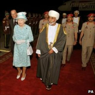 The Queen and Sultan of Oman