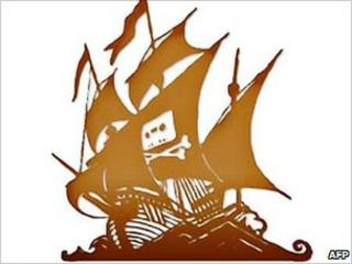 Pirate bay logo, AFP