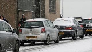 Snow in Carmarthen