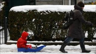 Child on sledge, Aberdeen