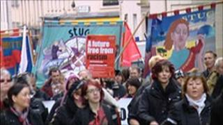 St Andrew's Day anti-racism march and rally in 2009
