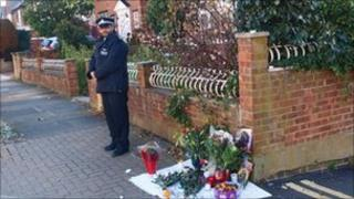 Tributes laid at the scene of the shooting