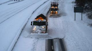 snow ploughs on the A9