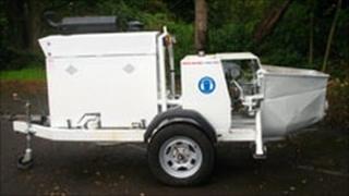 Stolen concrete pumping machine