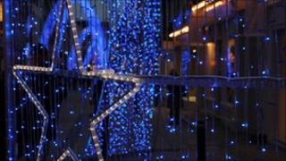 Christmas street lights (generic)