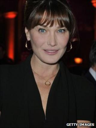 Carla Bruni at a gala dinner in Paris for the French Aids/HIV charity AIDES, 27 November