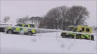 Ambulance at Pontefract racecourse