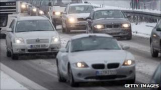 Traffic near Windach, Germany - file pic