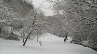 Snow in Darwen, Lancashire