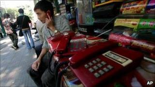 Telephone kiosk, Guangzhou Nov 2004