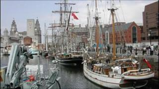 Ships in Canning Dock in 2005