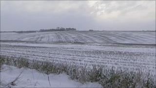 Snow on Salisbury Plain