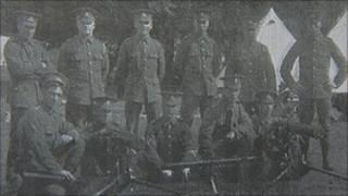 Soldiers from 2nd battalion, The Lancashire Fusiliers